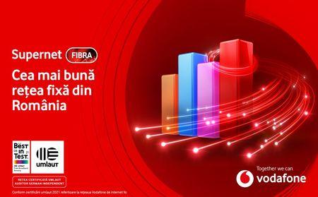 866 din 1.000 pentru Vodafone Supernet Fibra. Certificare germana pentru cea mai buna experienta de utilizare a internetului fix din Romania