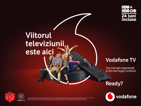 Vodafone inoveaza experienta TV cu noul serviciu Vodafone TV si introduce noi oferte de servicii convergente sub umbrela Vodafone ONE