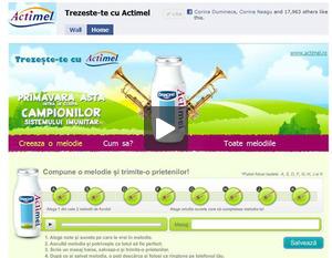 Aplicatie Facebook - Trezeste-te cu Actimel
