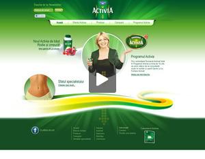 Activia website