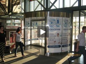Branding entrance doors